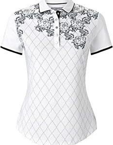 Callaway Floral Argyle Polo de Golf Mujer